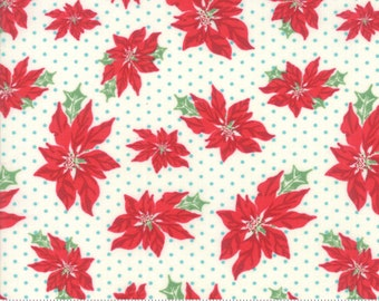 Sweet Christmas - Poinsettia - Marzipan (31151 11) Urban Chiks Sweet Christmas for Moda - Quilting Fabric - Cut Options Available