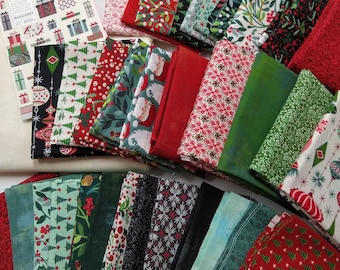 "Boxes and Bows Quilt Kit by Basic Grey for Moda Fabrics - Finished size: 69"" x 84"" - Christmas Quilt Kit - Cut in house - FREE SHIPPING"
