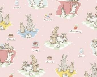 Bunnies and Cream, By Lauren Nash Bunnies Main Pink C6020-Pink