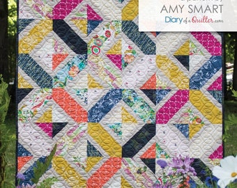 Double Crossed Quilt Pattern by Amy Smart Diaryofaquilter.com Crib & Twin Sizes
