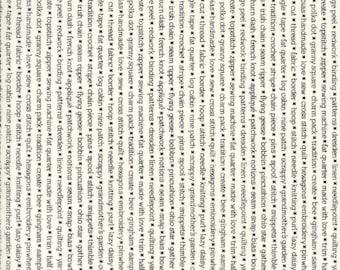 Handmade (55147 17) Black Cream Text Print Bonnie & Camille