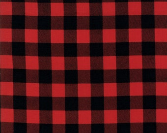 Overnight Delivery (5707 11) Red Black Buffalo Plaid by Sweetwater