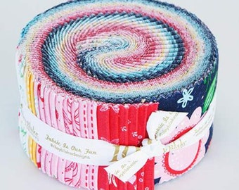 Flutter and Shine Rolie Polie by Melanie Collette for Riley Blake Designs - Precut Fabric - Jelly Roll