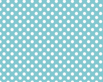 Aqua Small Dots by Riley Blake Designs (C350 20) Polka Dot Fabric - Cut Options Available