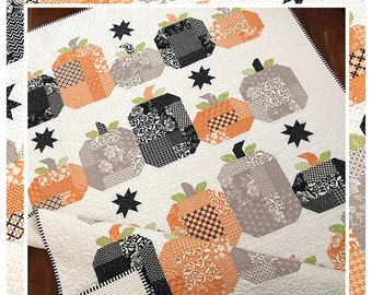 Hocus Pocus Quilt Pattern by The Pattern Basket - Pumpkin Quilt  - Layer Cake Friendly