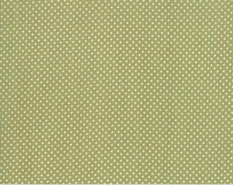 Early Bird Green Dots by Bonnie & Camille for Moda Fabrics (55195 16) - Cut Options Available