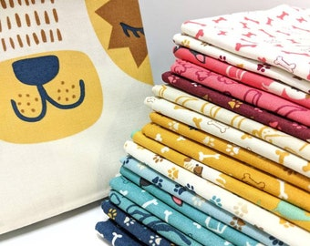 Woof Woof by Stacy Iset Hsu - FQ bundle - 17 Fat Quarters + Dog Panel