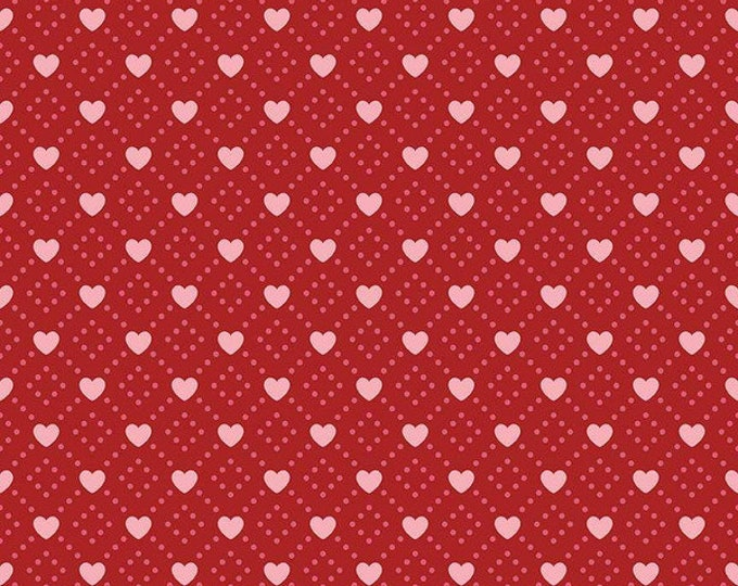 Hello Sweetheart Diamond Red fabric by Echo Park Paper Co. for Riley Blake Designs (C7622-RED)