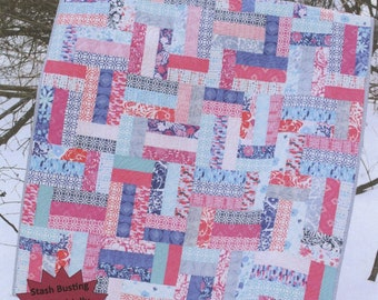 Scrappy Ever After Quilt Pattern from Sweet Jane's Quilting & Design -  Fat Quarter and Jelly Roll Friendly