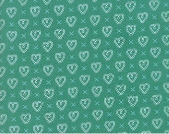 Sugar Pie (5043 14) Teal Cross my Heart by Lella Boutique