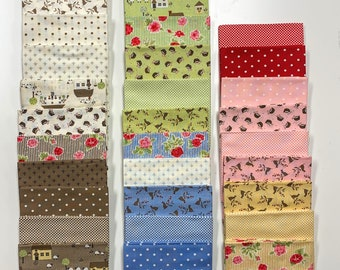 Cottontail Cottage Fat Quarter Bundle SALE (2920AB) by Bunny Hill Designs  (30 FQ's) - Cottontail Cottage FQ Bundle - Clearance!