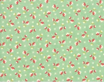 Scarlet and Sage Pond Cotton Blossoms by Fig Tree & Co. for Moda (20365 18) - Cut Options Available