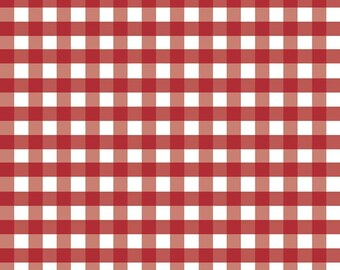Red Woven 1/2 inch Gingham (WC460 RED) for Riley Blake Designs - Red Woven Gingham - Small Gingham Fabric