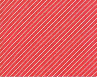 Early Bird Red Stripe by Bonnie & Camille for Moda Fabrics (55196 11) - Cut Options Available