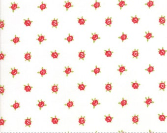Smitten  Cream Sweetheart by Bonnie & Camille (55178 17) - Low Volume Fabric - Cut Options Available