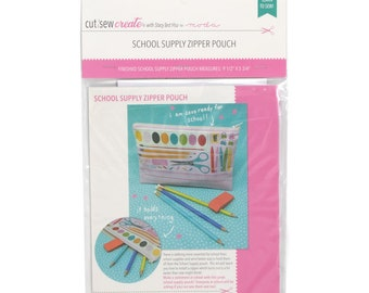 School Supply Zipper Pouch Cut, Sew, Create Panel by Stacy Iest Hsu - Perfect Sewing Projects for Beginners and Children!