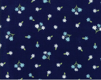 Orchard Tiny Bud - Blueberry - April Rosenthal Orchard for Moda Fabrics (24073 17)
