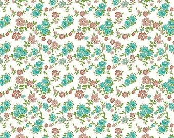 Granny Chic Teal Sheets by Lori Holt (Bee in My Bonnet) (C8516 TEAL) - Riley Blake Designs - Lori Holt Granny Chic