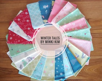 Winter Tales by Minki Kim Fat Quarter Bundle SALE (FQ-7310-21) Minki Kim Winter Tales FQ Bundle - Quilting Cotton Fabric - Precut Bundle