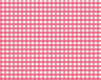 Woven 1/4 inch Gingham in Raspberry (WC450 RASPBERRY) for Riley Blake Designs - Woven Pink Gingham - Quilting Cotton Fabric