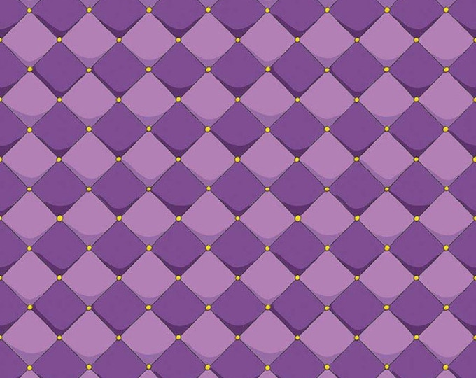 Dragons Checkered Purple (C7665-PURPLE) by Ben Byrd from Dragons for Riley Blake Designs