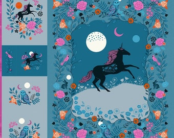 Crescent Magic Unicorn Digital Panel by Sarah Watts for Ruby Star Society and Moda Fabrics - RS2010P