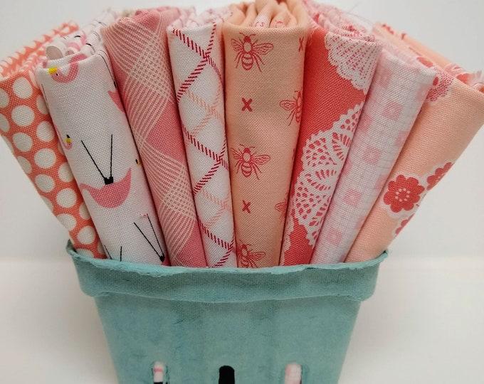 Stitches FQ Bundle - Pink/Blush Fat Quarters - (8) FQs