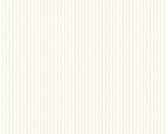 Riley Blake Designs, Tone-on-Tone 1/8 inch Stripe Cream (C225-Cream)