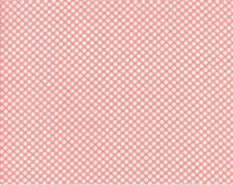 Vintage Holiday Flannel Pink Dot by Bonnie & Camille  (55162 14F) - Flannel Polka Dot Fabric - Cut Options Available