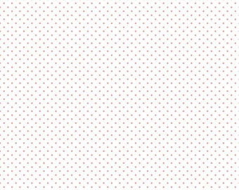 Coral Swiss Dot On White by Riley Blake Designs (C660 54 Coral) - Swiss Dot Fabric - Cut Options Available