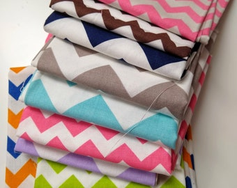 SALE - Chevron Remnant Sale - Scrap Bag - Over Two Yards of Fabric - Everything in the picture - Various Lengths - CLEARANCE