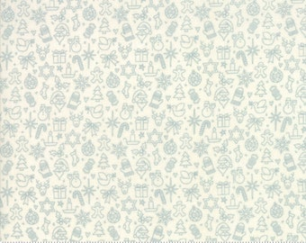 Kringle Claus - Traditions - Snow & Frosty - (30597 12) - BasicGrey Kringle Claus for Moda Fabrics -  Cotton Quilting Fabric - Kringle Klaus