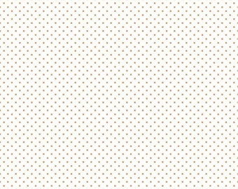 Riley Blake Designs, Swiss Dot On White Color Orange (C660 60)