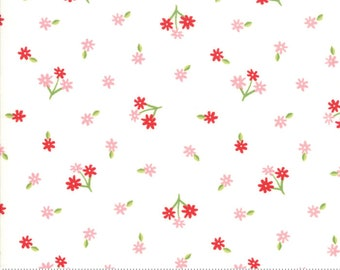 Orchard Tiny Bud - White - April Rosenthal Orchard for Moda Fabrics (24073 11)
