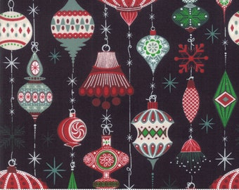 Kringle Claus - Deck The Halls - Coal - (30591 12) - BasicGrey Kringle Claus for Moda Fabrics -  Cotton Quilting Fabric - Kringle Klaus