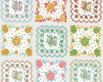 Granny Chic Multi Handkerchief by Lori Holt (Bee in My Bonnet) (C8526 MULTI) - Riley Blake Designs - Lori Holt Granny Chic