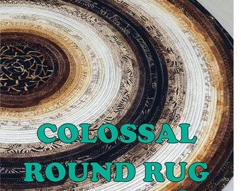 Colossal Round Jelly Roll Rug - Pattern by RJ Designs (RJD 130)