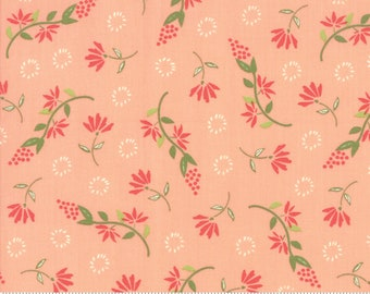 Harper's Garden Coral Wispy by Sherri and Chelsi for Moda Fabrics (37572 14) Cut Options Available