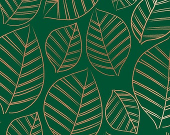 Aviary Jade Leafy Metallic by Ruby Star Society for Moda Fabrics (RS5003 15M) - Cut Options Available