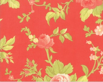 Scarlet and Sage Scarlet Scarlet Rose by Fig Tree & Co. for Moda (20360-12) - Cut Options Available