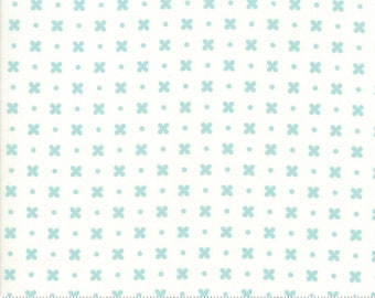 Little Snippets Aqua Cream Stitch by Bonnie & Camille for Moda Fabrics (55183 25)