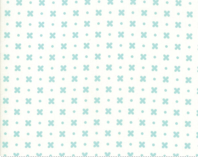 Little Snippets Aqua Cream Stitch by Bonnie & Camille for Moda Fabrics (55183 25)