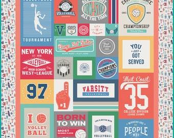 Varsity Volleyball Quilt Kit - Pattern by RBD Designers featuring Varsity Volleyball by Deena Rutter