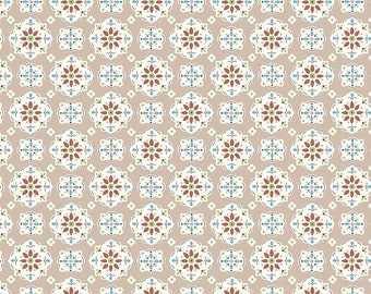 Granny Chic Brown Wallpaper by Lori Holt (Bee in My Bonnet) (C8517 BROWN) - Riley Blake Designs - Lori Holt Granny Chic