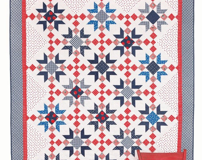 Red Delicious Quilt Pattern by Amy Smart Diaryofaquilter.com for Twin, Queen and King Sizes
