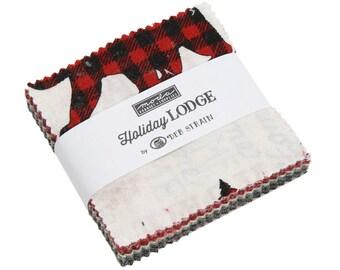 "Holiday Lodge Mini Charm Pack (19890MC) by Deb Strain for Moda Fabrics - Precut Fabric - 2.5"" x 2.5"" squares"