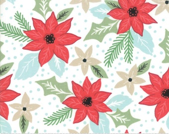 Little Tree by Lella Boutique - Christmas Bouquet - Snow (5091 11) Lella Boutique Little Tree for Moda Fabrics - Christmas Fabric