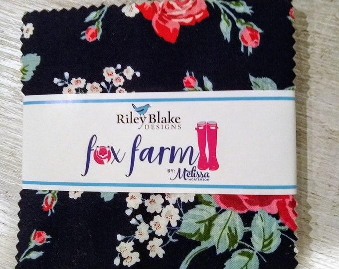 Fox Farm Charm Pack by Melissa Mortenson of Polka Dot Chair for Riley Blake Designs (5-8260-42)