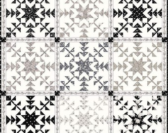 """Starflakes Quilt Kit by Gerri  Robinson (Planted Seed Designs) - 68"""" x 68"""" Quilt - using Serenity Fabric - PREORDER"""