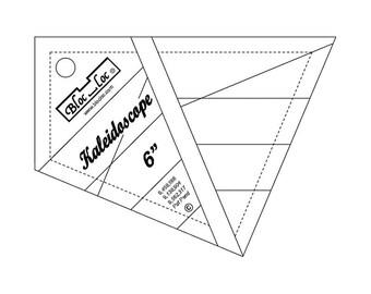 """Bloc-Loc - Kaleidoscope Ruler 6"""" - Quilting Tool"""